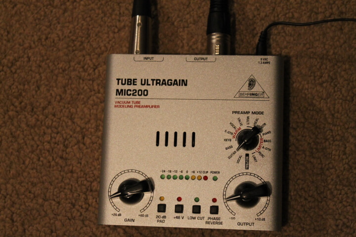 Behringer Tube Ultragain Mic200 REVIEW