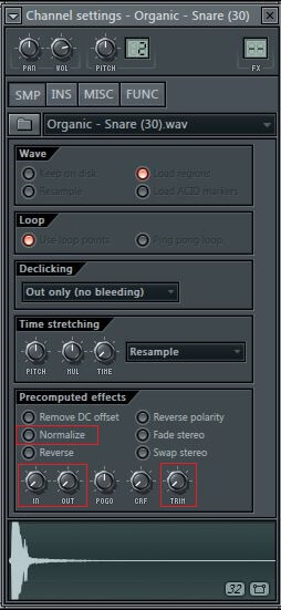 FL Studio - Channel Settings - IN and OUT