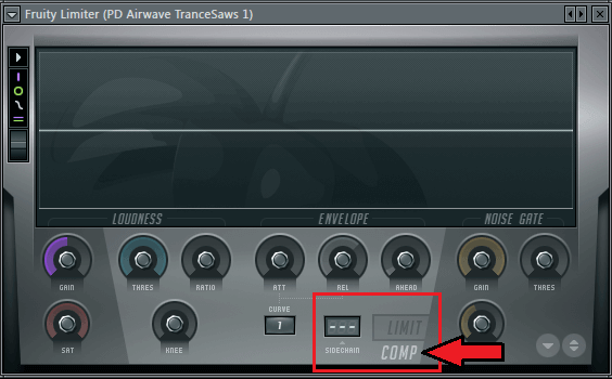 Fruity Limiter - Sidechain Set Up