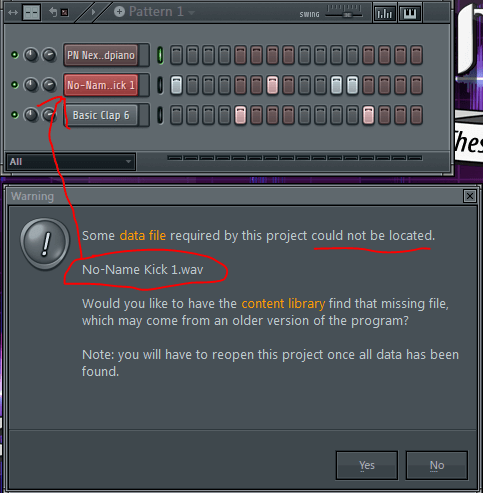 Missing Files - FL Studio