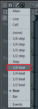 I know this says 1/6 beat -- Use just BEAT