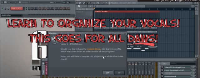 Organize Your Vocals (All DAWs)