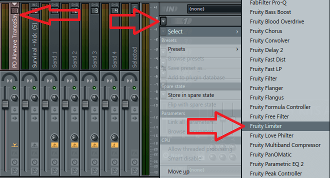Set Up Side-chain FL Studio - Fruity Limiter - Side-chain Compressor