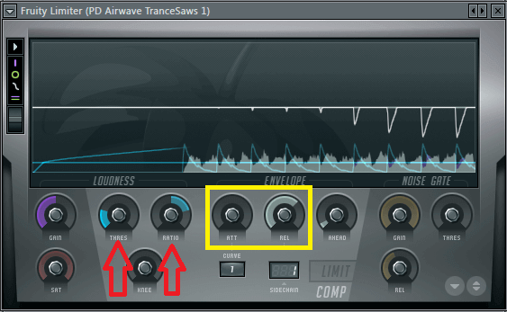 Set Up Sidechain FL Studio - Fruity Limiter - Sidechain Fine-Tune