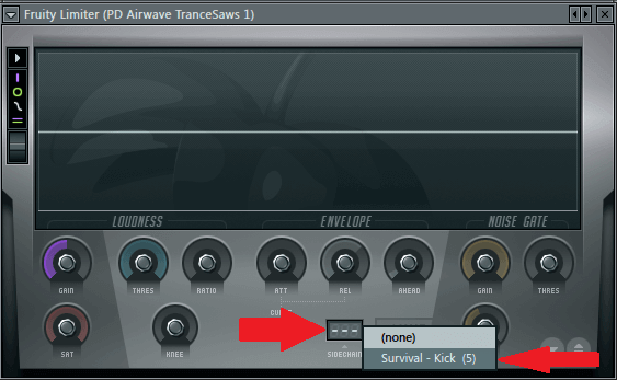 Set Up Sidechain FL Studio - Fruity Limiter - Sidechain Input