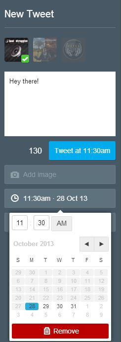 TweetDeck - Schedule Tweet