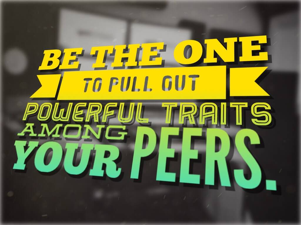 Pull Out Powerful Traits Among Peers